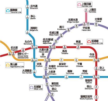 名古屋市歯科医師会附属歯科衛生士専門学校 路線図